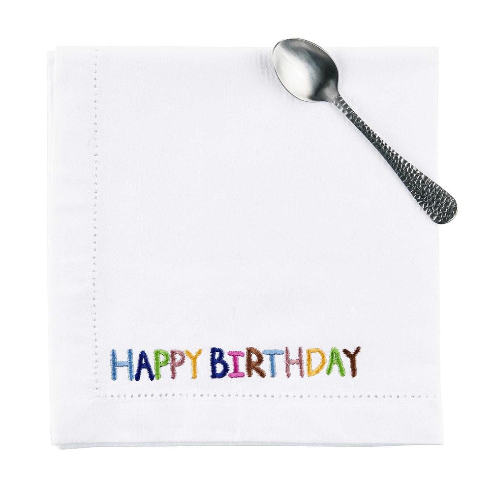 HAPPY BIRTHDAY Ubrousek látkový 45 x 45 cm
