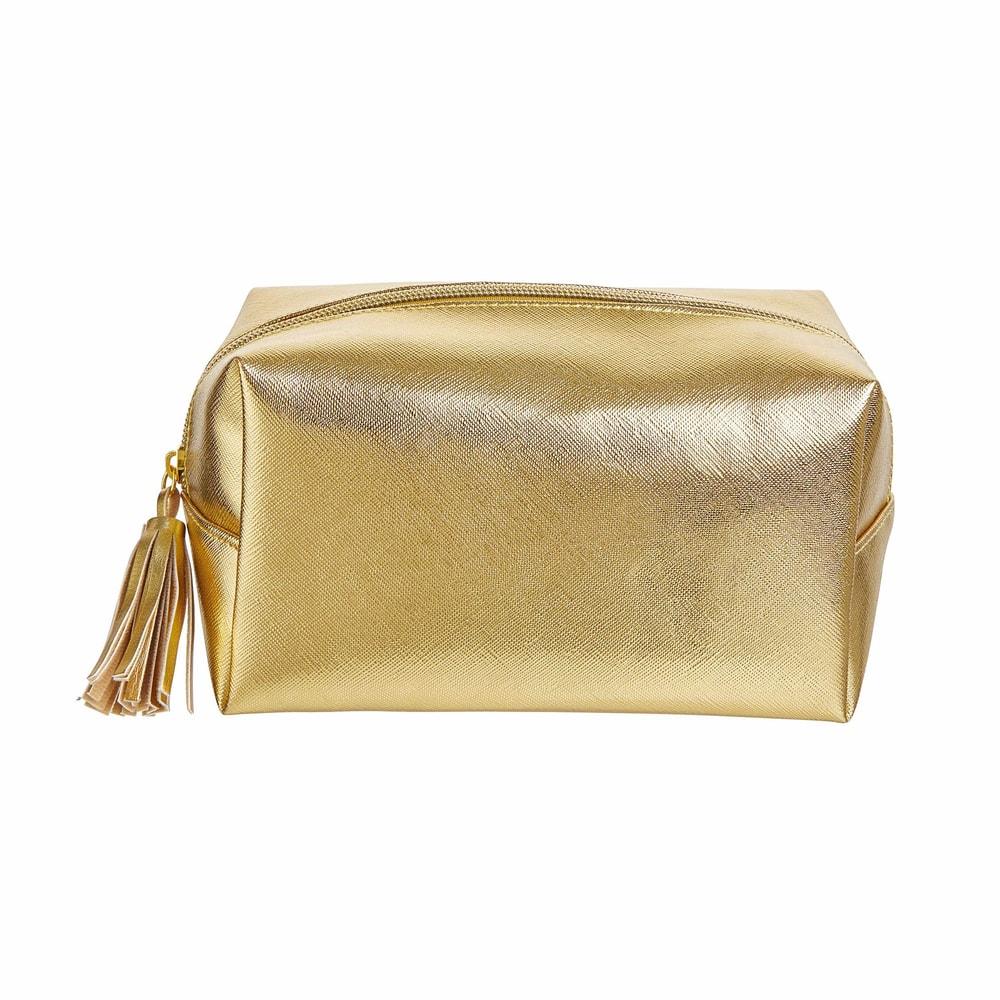 STROBE Kosmetická taštička čtvercová - zlatá