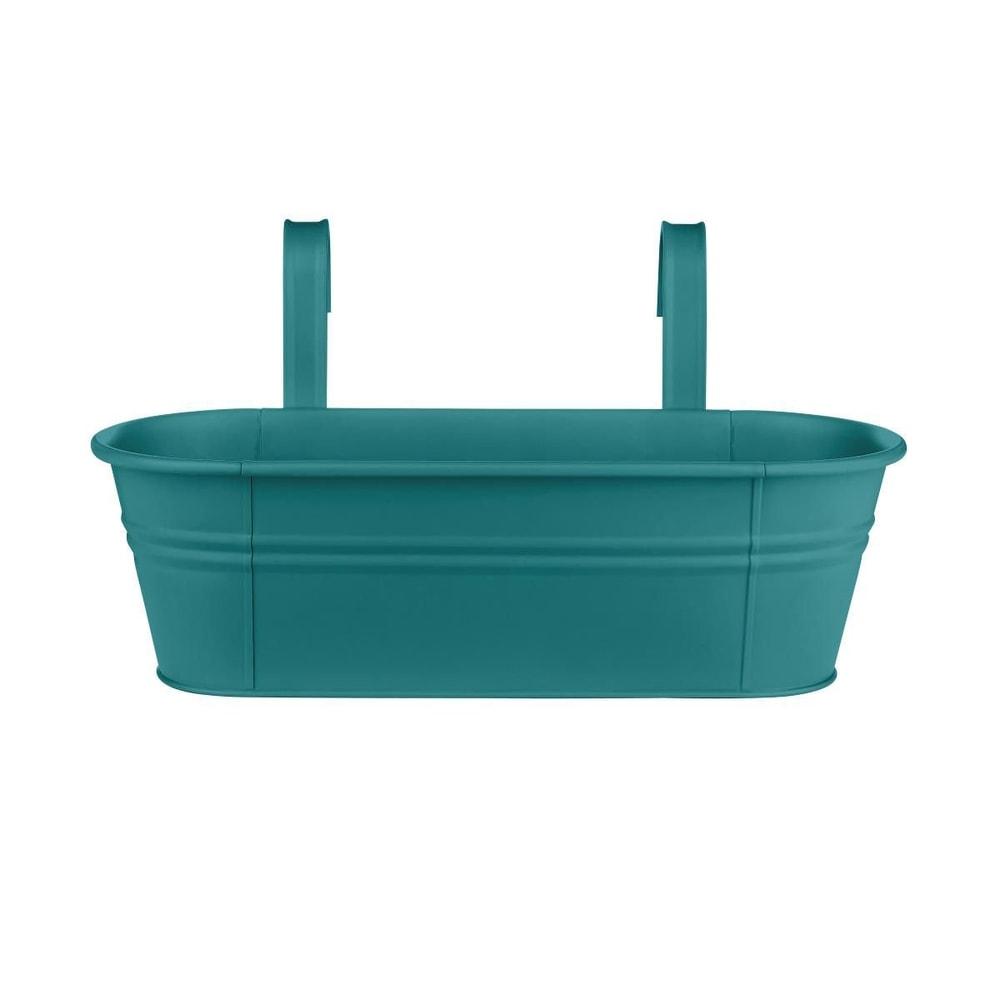 ZINC Závěsný truhlík pro 3 rostliny 50 cm - petrolejová