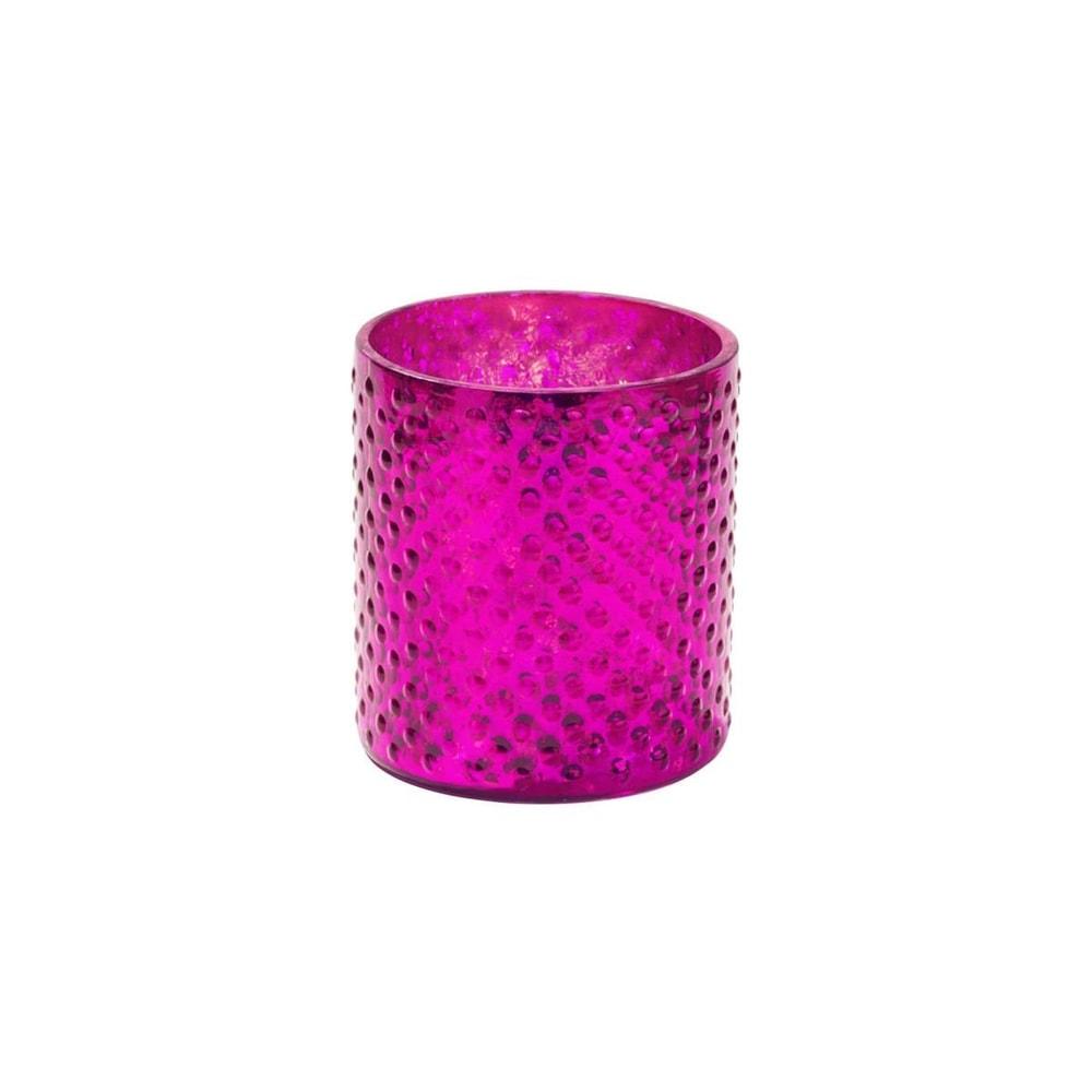 DELIGHT Svícen na čajovou svíčku 8 cm - malinová