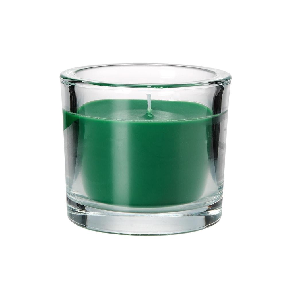 SCENTS Vonná svíčka ve sklenici sladká X-MAS tree - zelená