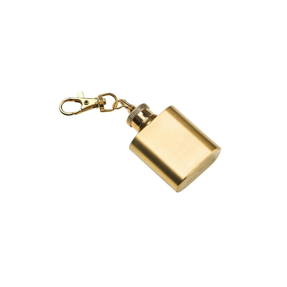 Produktové foto MINI FLASK Přívěšek na klíče placatka - zlatá