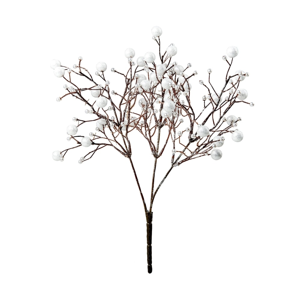 WINTERGREEN Větvička s bobulkami 35 cm