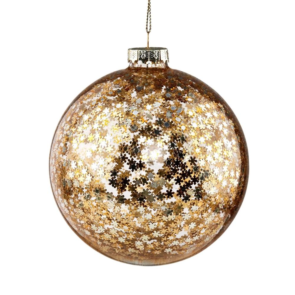 HANG ON Vánoční koule hvězdy 10 cm - zlatá