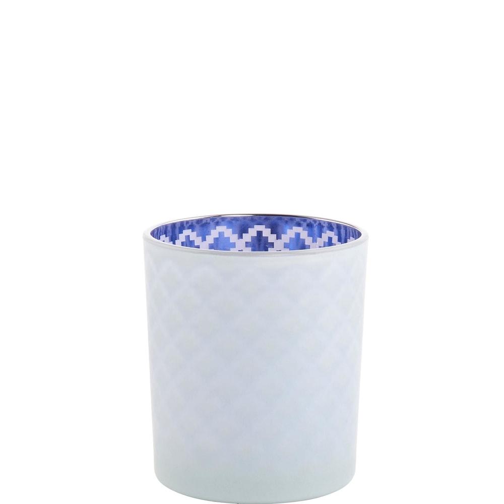 Produktové foto DELIGHT Svícen 10 cm - modrá/bílá