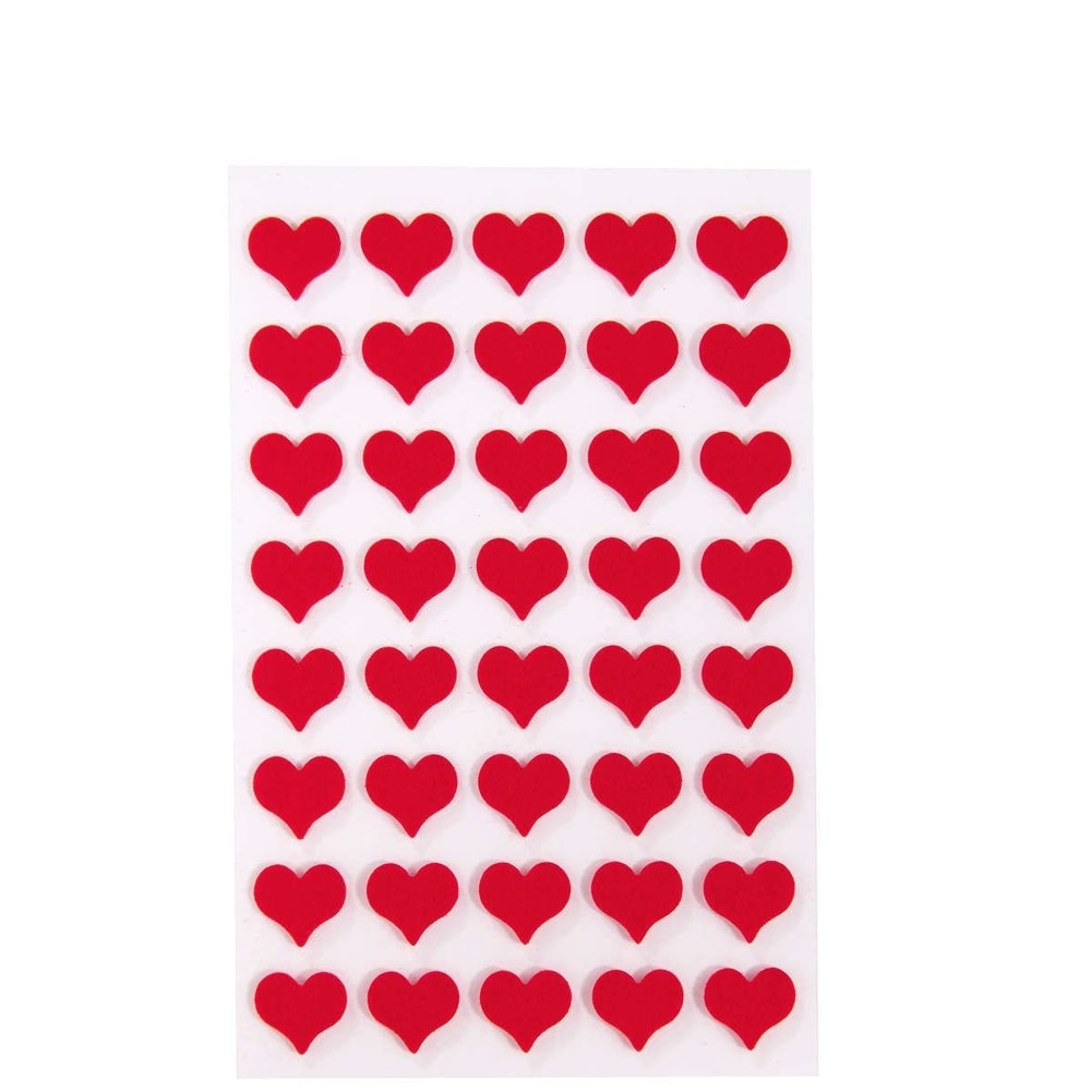HEARTS Nálepky srdce velké
