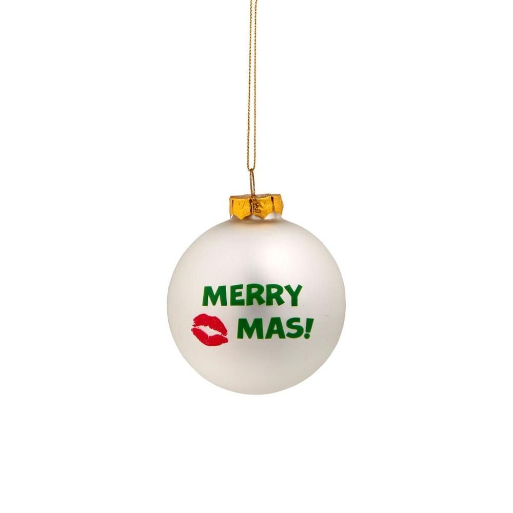 """NAUGHTY BAUBLES Vánoční koule """"Merry Kiss"""""""