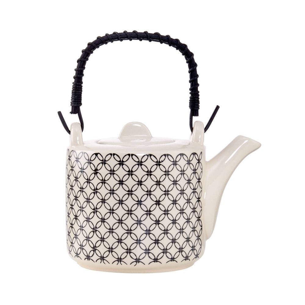 RETRO Konvička na čaj - černá