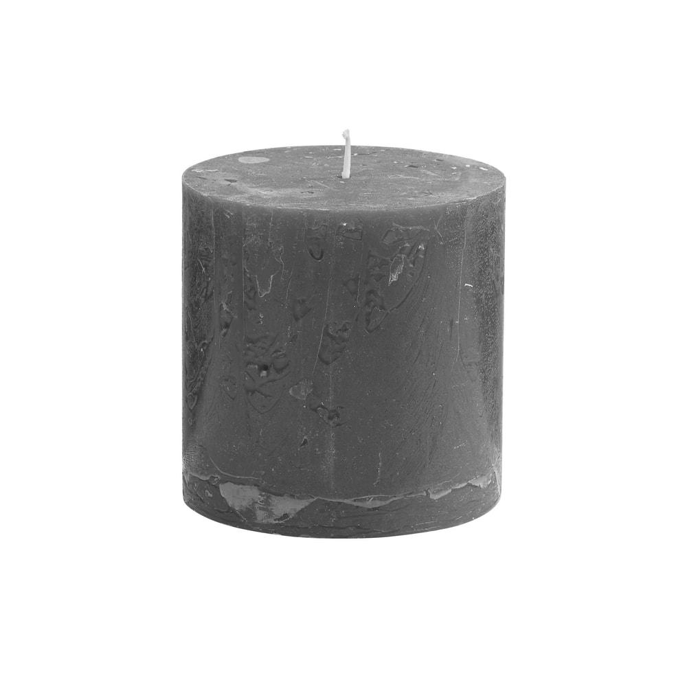 RUSTIC Svíčka 10 cm - šedá