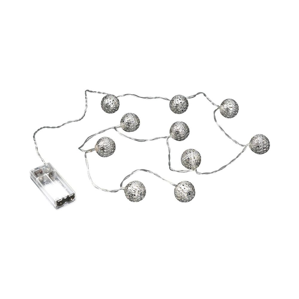 BRIGHT LIGHTS LED Světelný řetěz kovové koule 10 světel