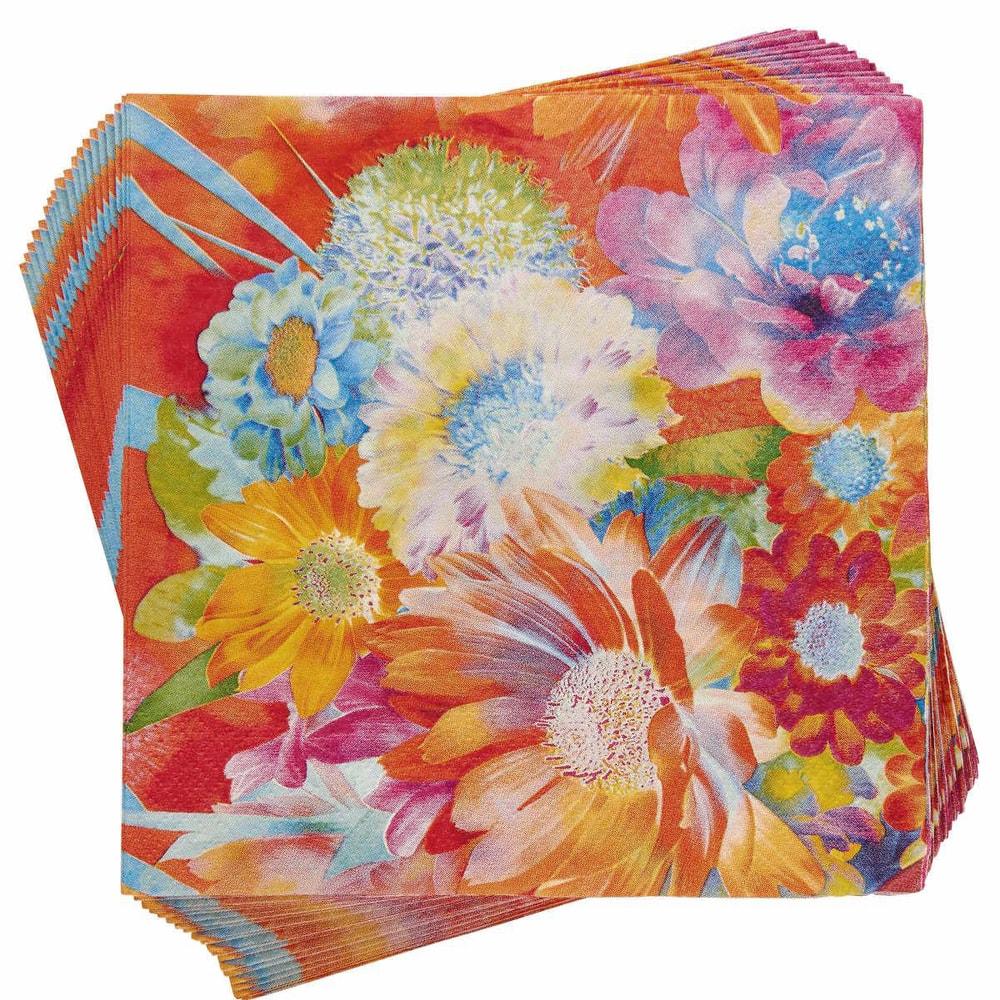 APRÈS Papírové ubrousky květiny 20 ks