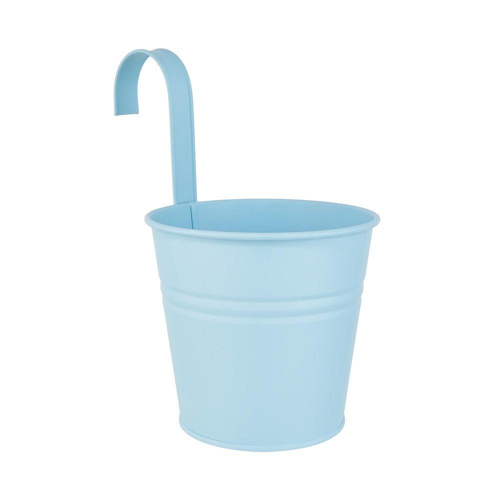 ZINC Závěsný květináč 16 cm - sv. modrá