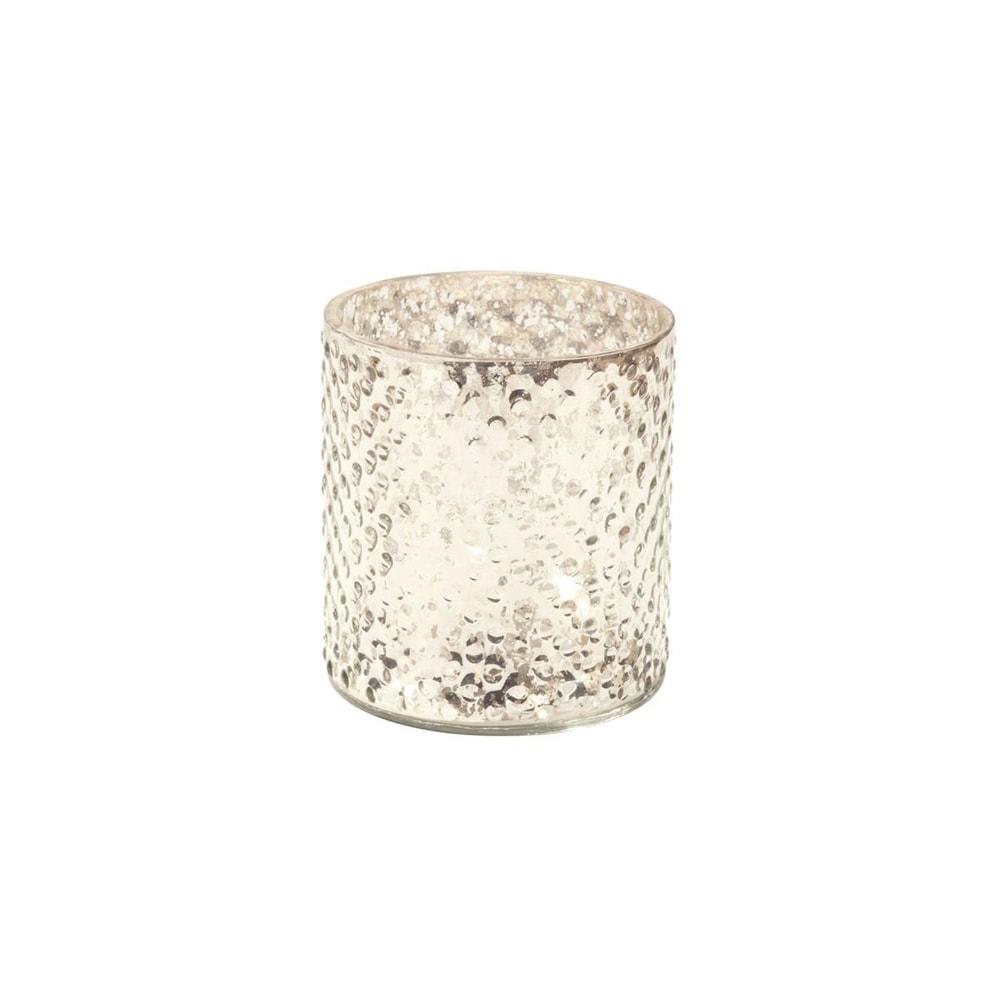 DELIGHT Svícen na čajovou svíčku 8 cm - stříbrná