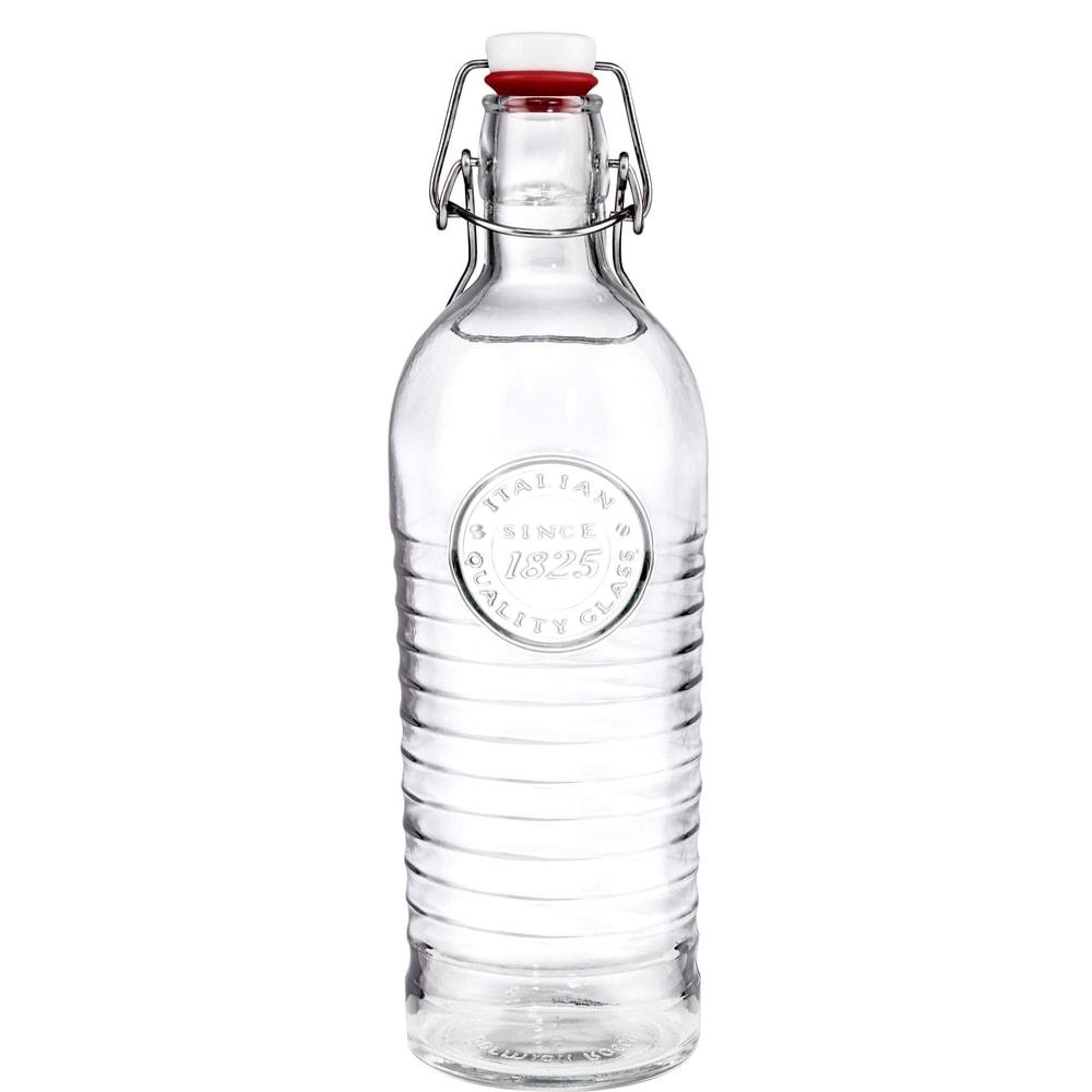 RIFFLE Skleněná láhev s uzávěrem