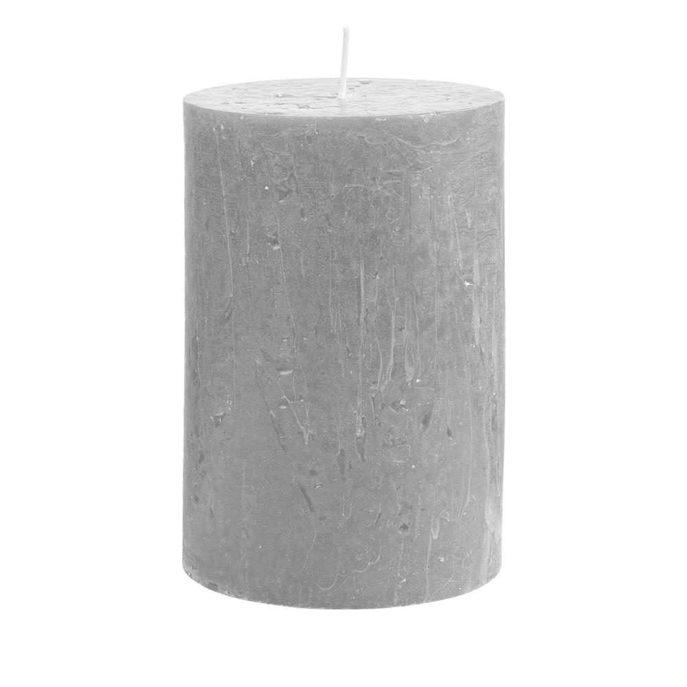 RUSTIC Svíčka 15 cm - šedá