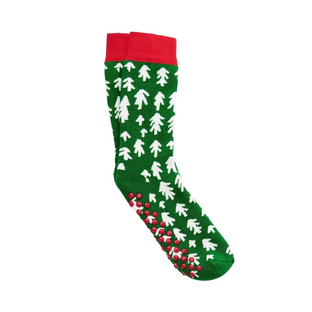 COZY SOCKS Ponožky stromky 39-42 - zelená/červená