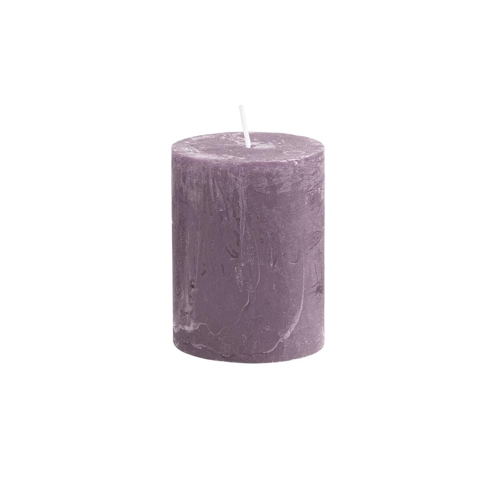 RUSTIC Svíčka 9 cm - pastelově fialová