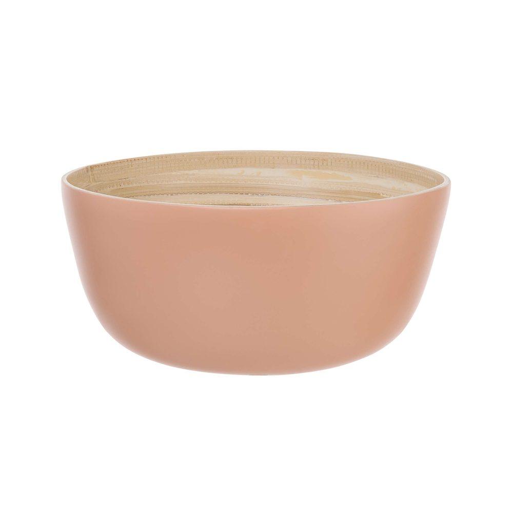 BAMBOO Bambusová miska 25 cm - pastelově červená