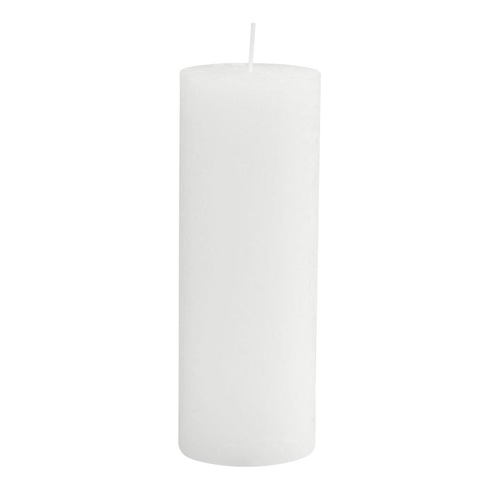 RUSTIC Svíčka 19 cm - bílá