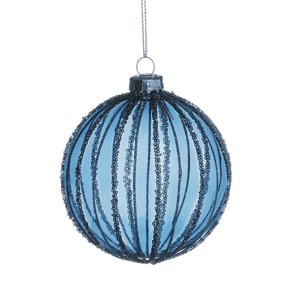 HANG ON Vánoční koule proužky 8 cm