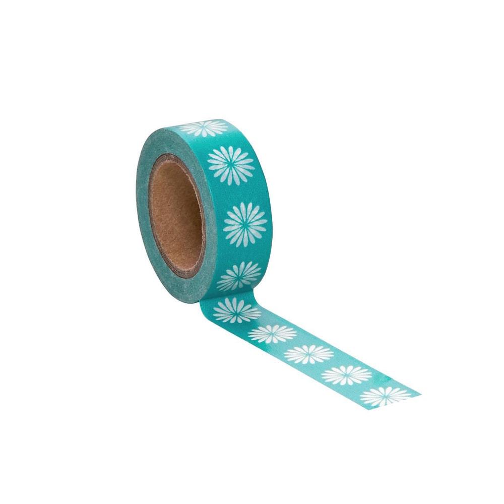 TAPE Lepicí páska květiny - modrá/bílá