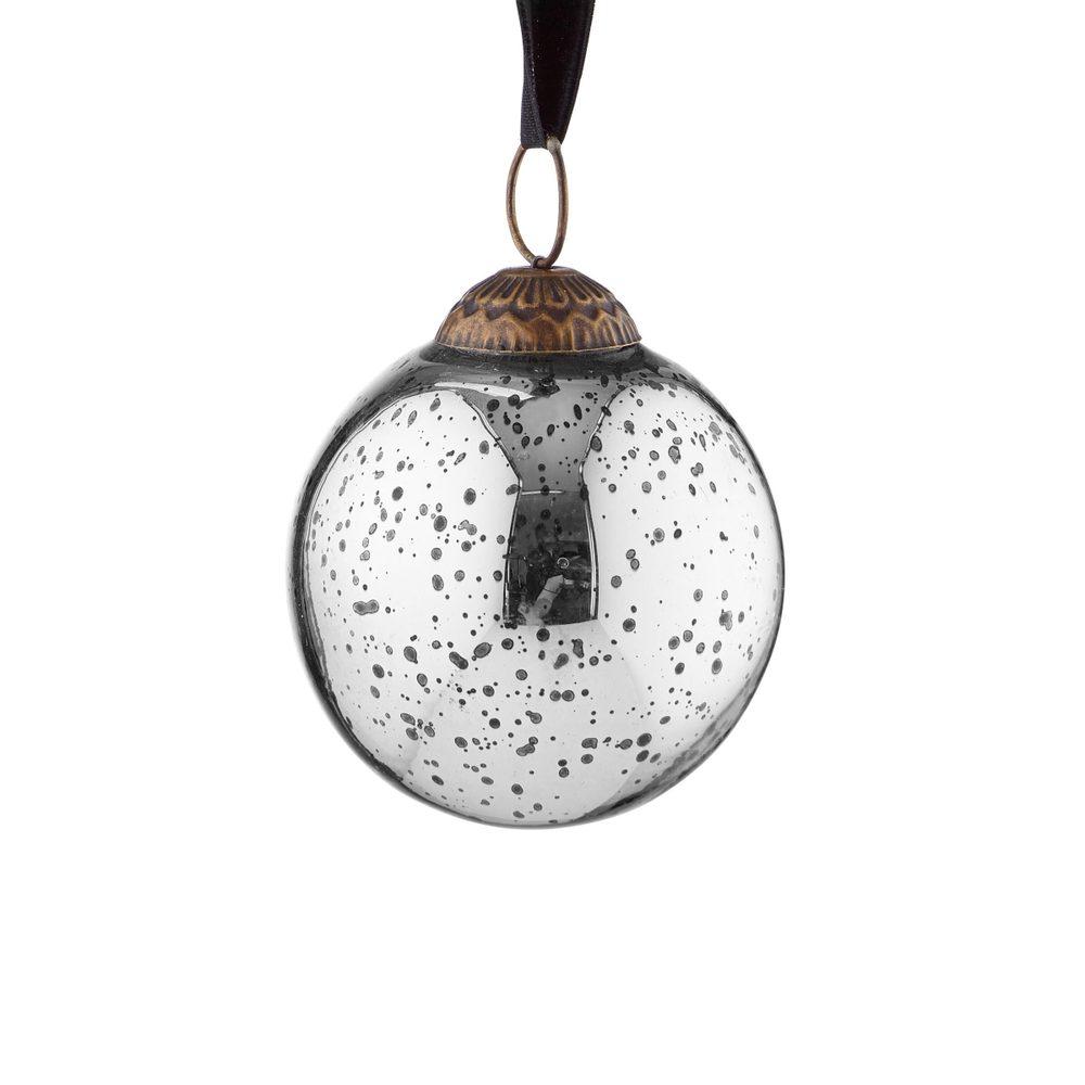HANG ON Ozdoba vánoční koule starožitná 7 cm