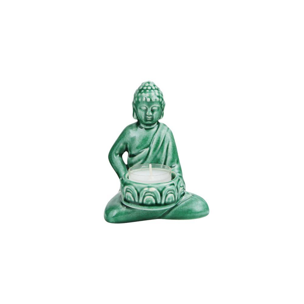 BUDDHA Soška na čajovou svíčku - zelená