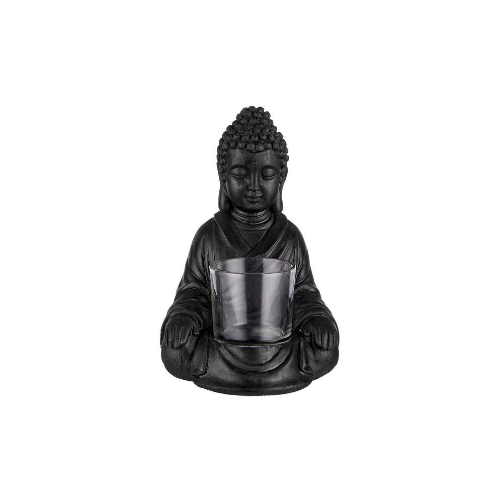 BUDDHA Svícen na čajovou svíčku - černá