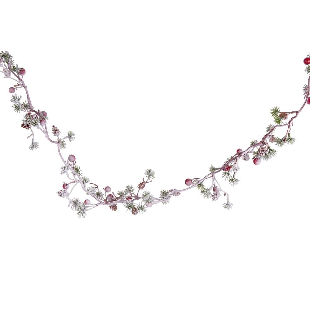 FLORISTA Girlanda s bobulkami zasněžená 127 cm