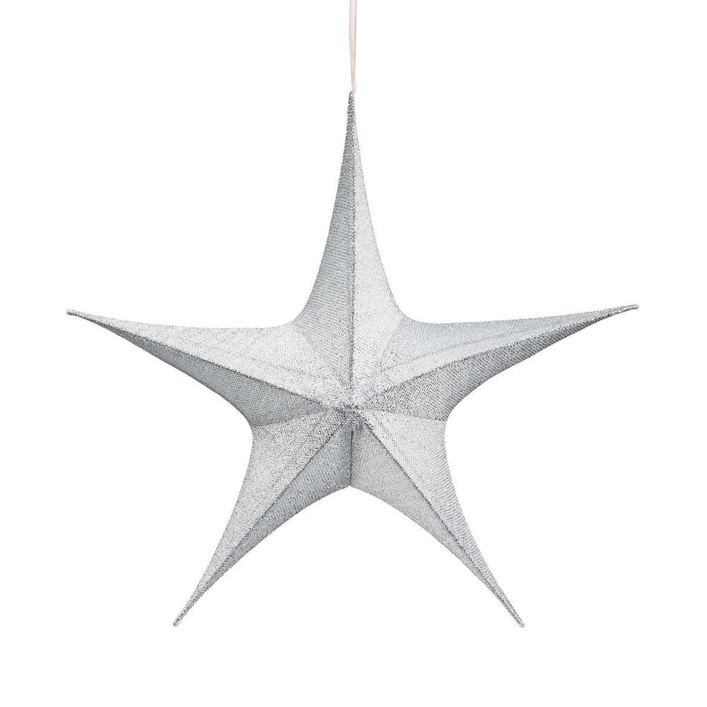 Produktové foto TWINKLE Hvězda 23 cm - stříbrná
