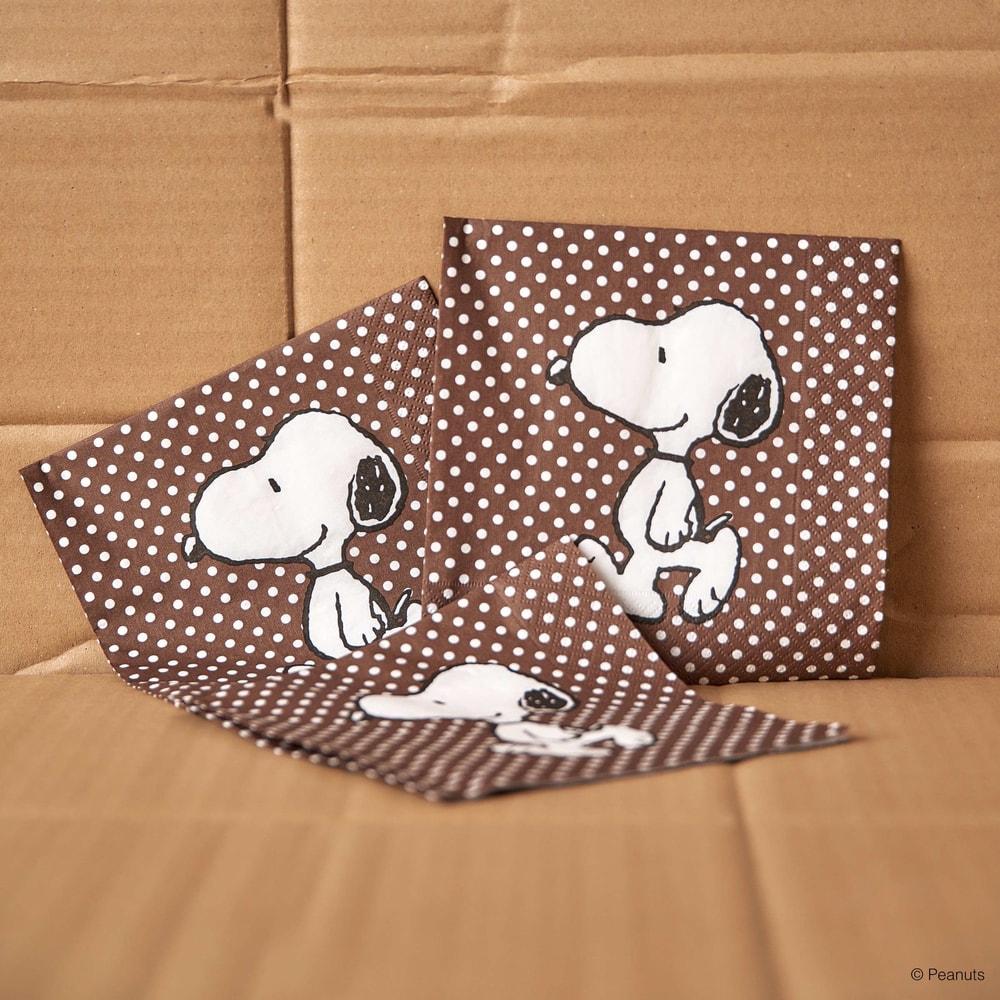 Fotografie PEANUTS Papírové ubrousky Snoopy