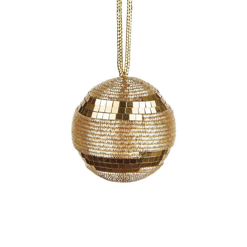 Fotografie HANG ON Vánoční provázková koule třpytky 6 cm set 6 ks