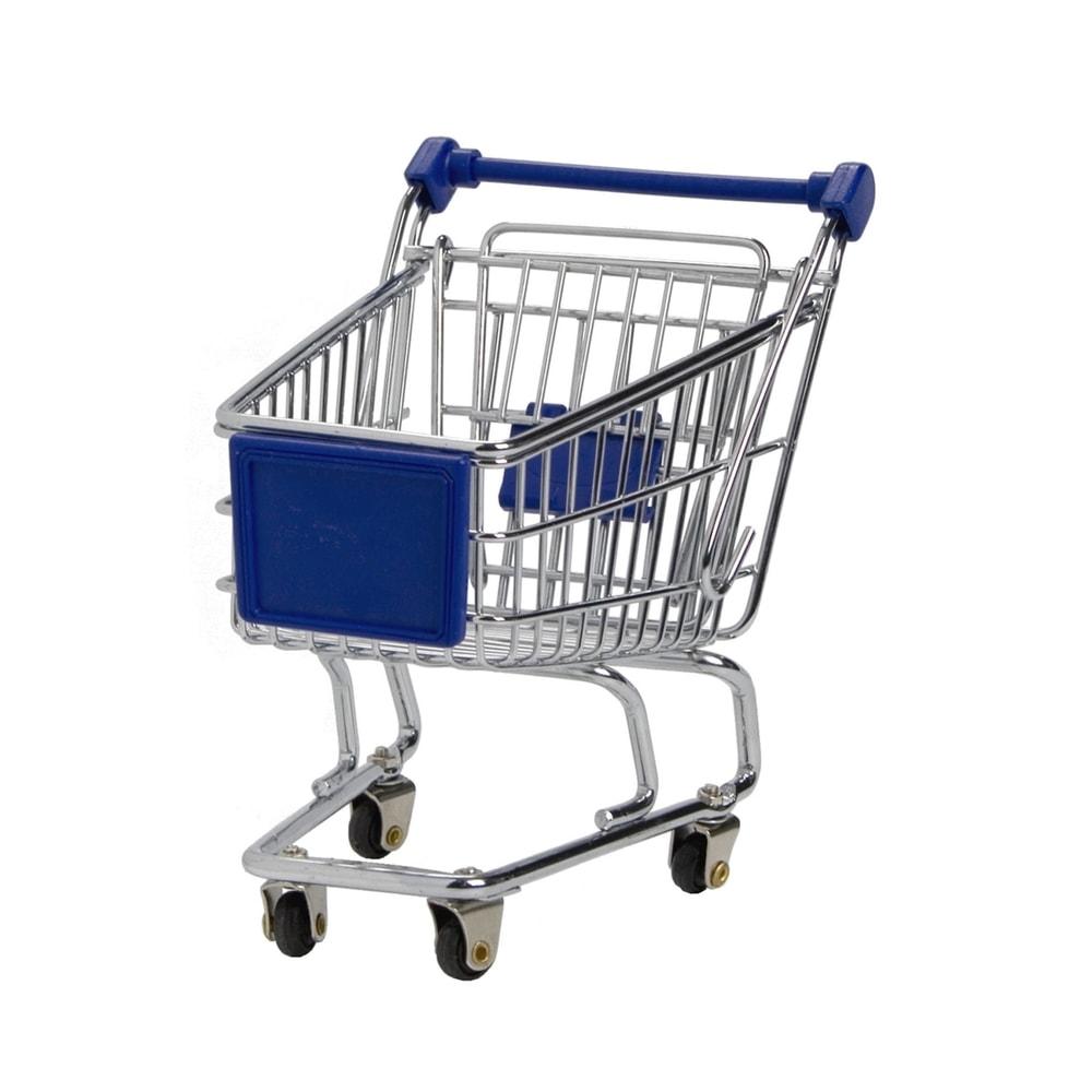 SUPERMARKET Nákupní vozík malý - modrá