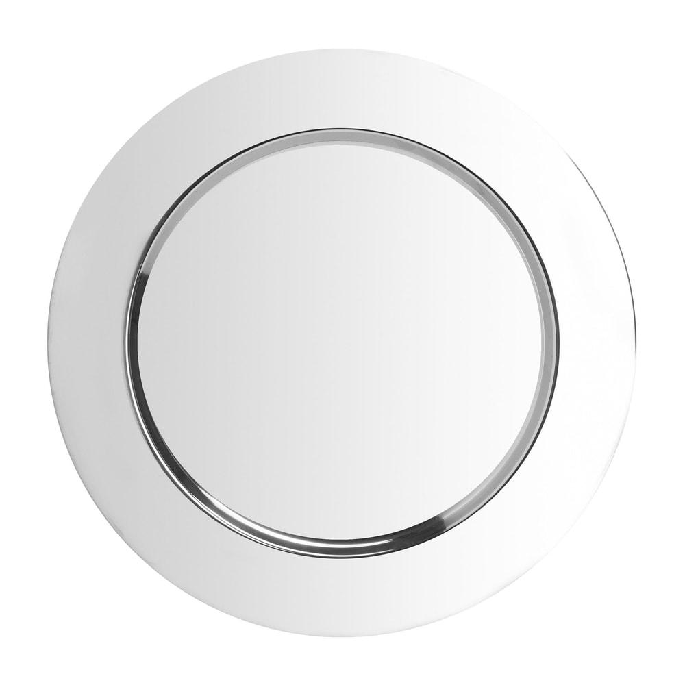 Produktové foto PIATTO Dekorační talíř - stříbrná