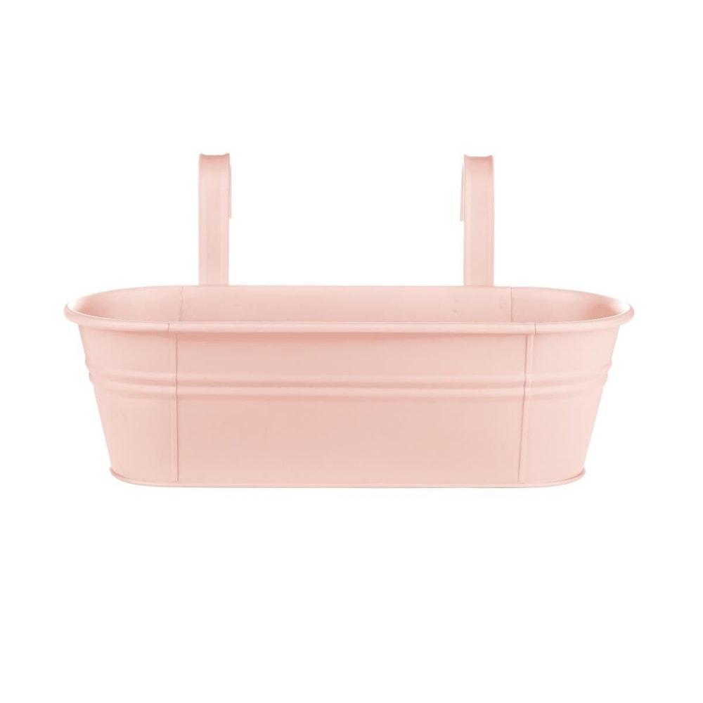 ZINC Závěsný truhlík pro 3 rostliny 50 cm - sv. růžová