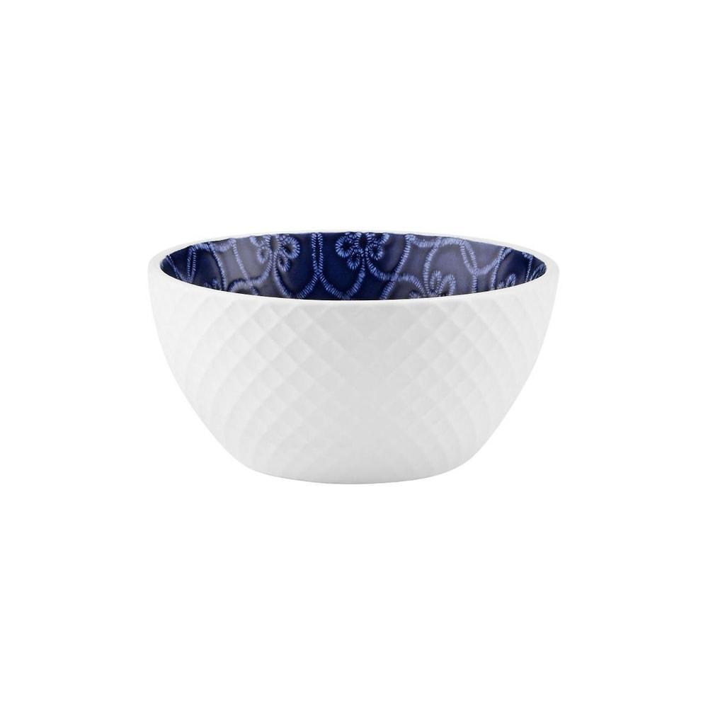 CASCA Miska vaflový vzor 365 ml - bílá/modrá