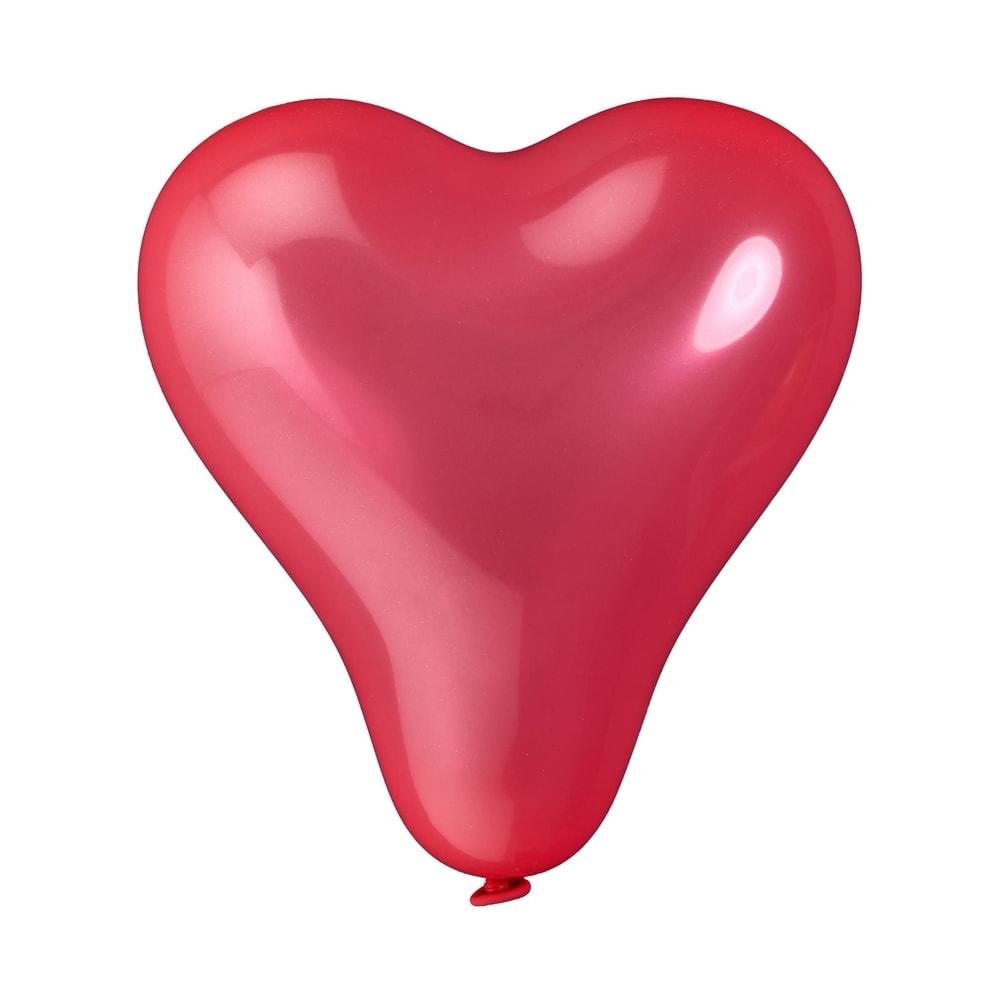 Produktové foto UPPER CLASS Balónky srdce set 10 ks - červená