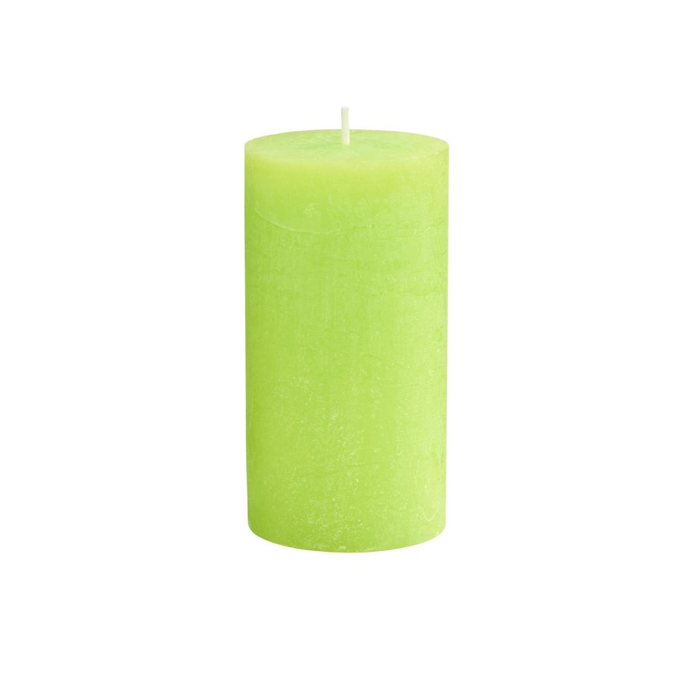 RUSTIC Svíčka 13 cm - sv. zelená