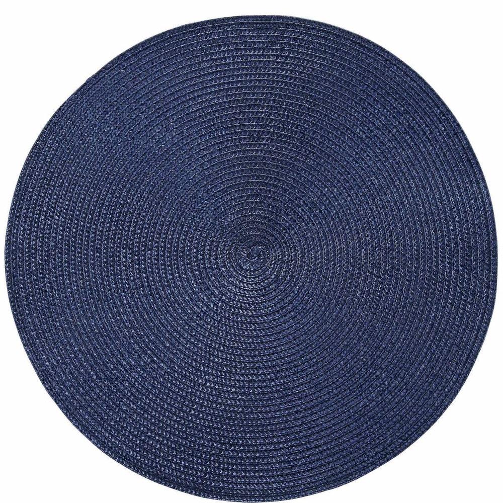 AMBIENTE Prostírání kulaté - tmavě modrá