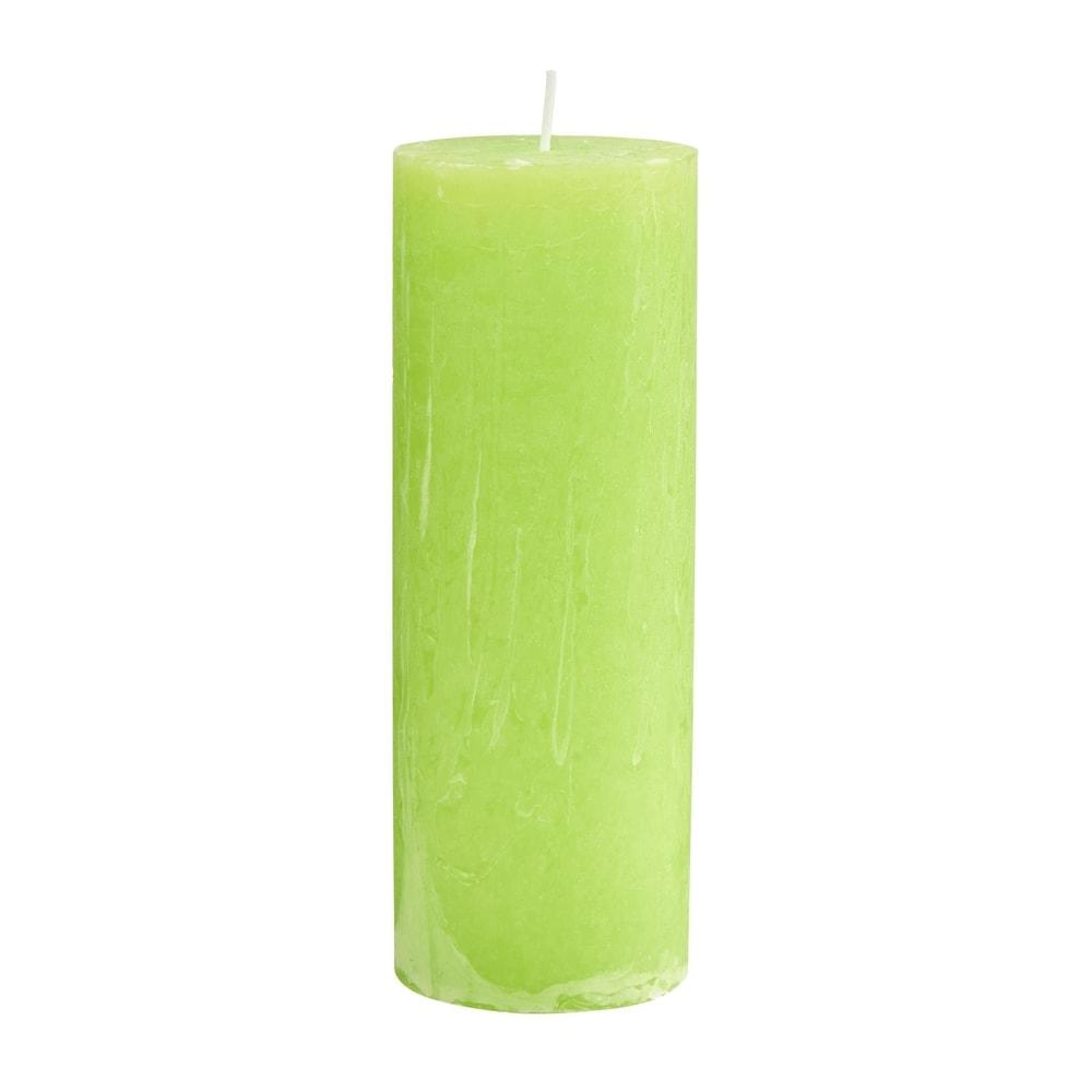 RUSTIC Svíčka 19 cm - sv. zelená