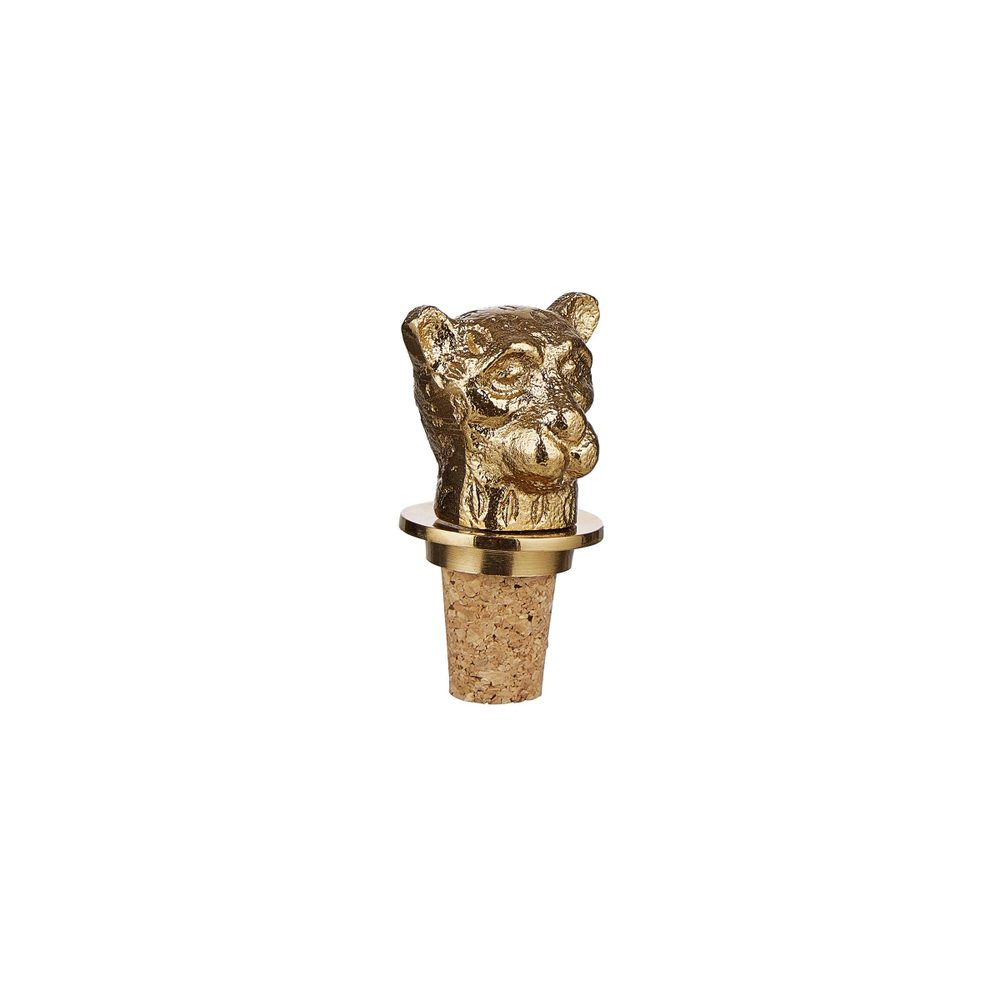 GOLDEN NATURE Uzávěr na láhev s korkem leopard