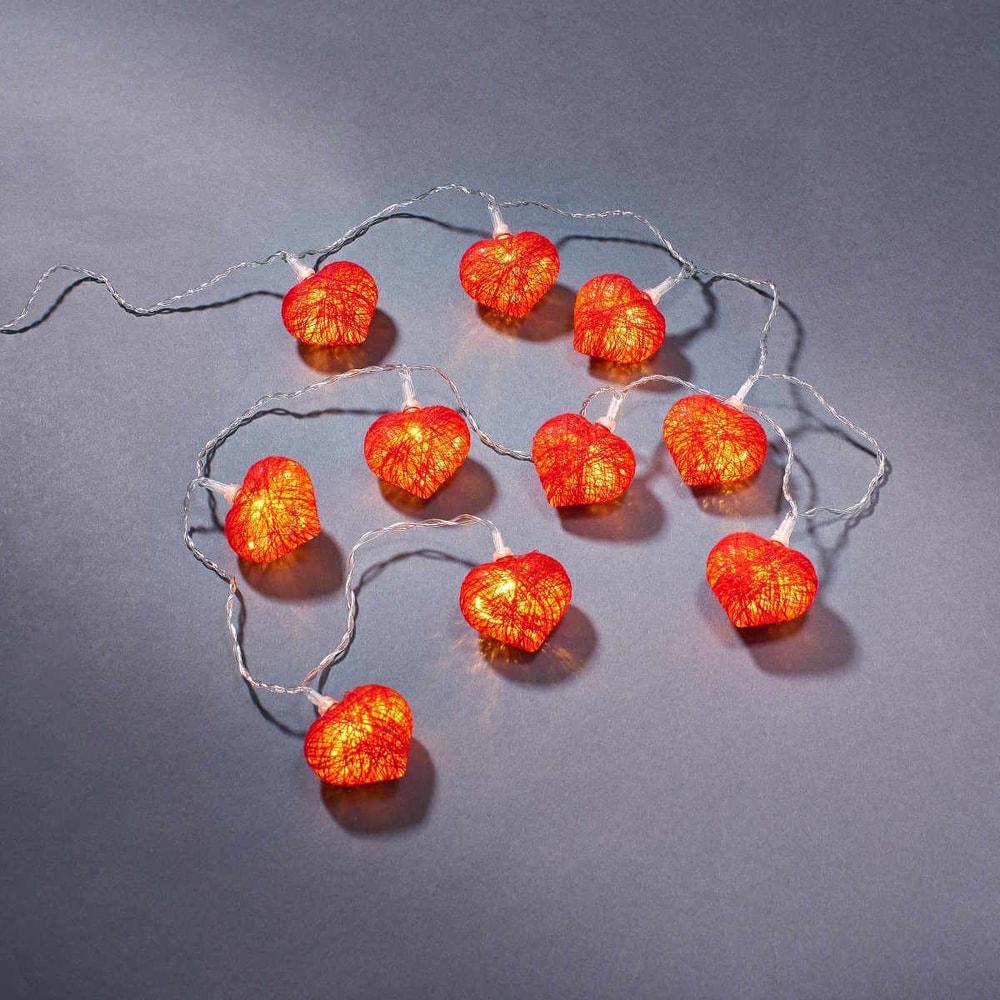 LOVE LIGHTS LED Světelný řetěz srdce 10 světel