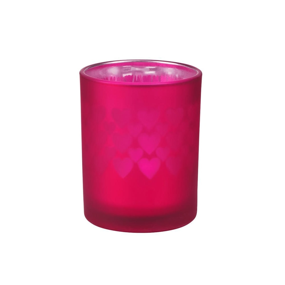 DELIGHT Svícen na čajovou svíčku srdce malý - malinová