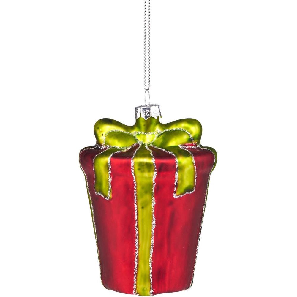 Produktové foto HANG ON Ozdoba dárek - červená