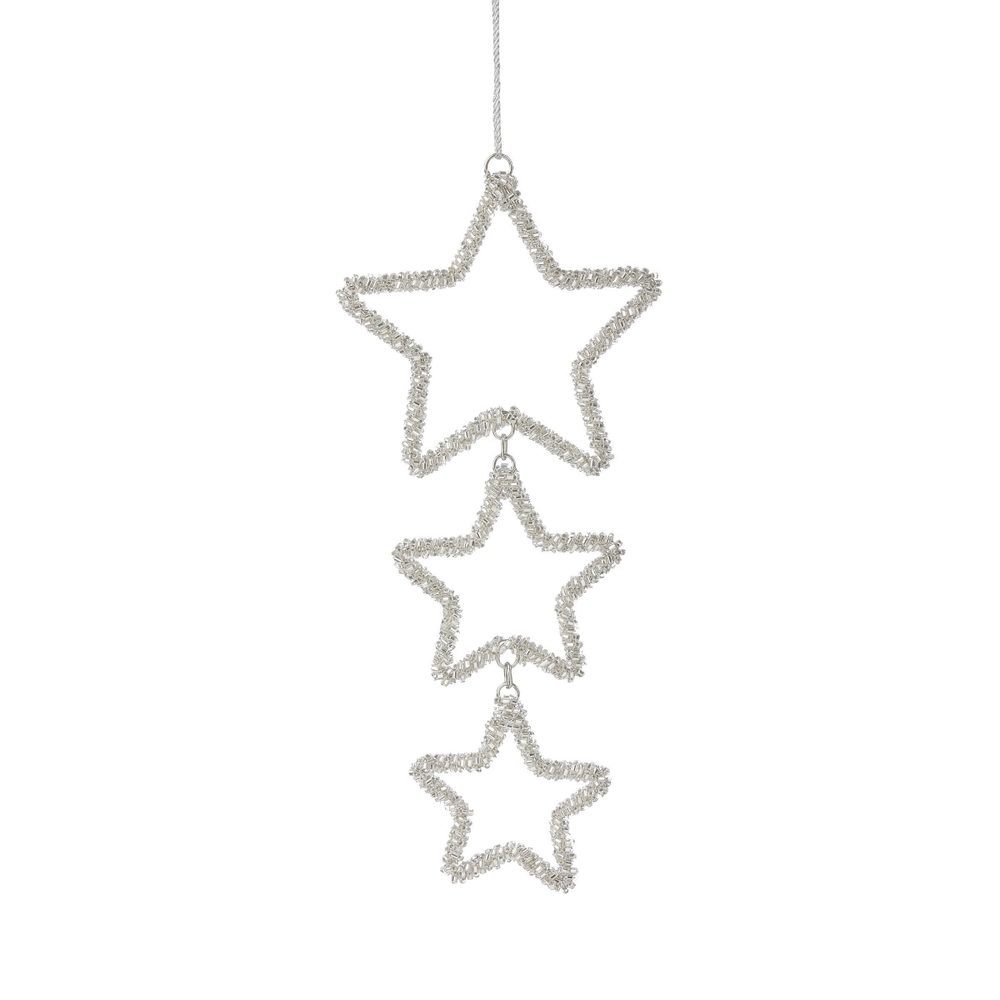 HANG ON Ozdoba hvězda s perlami, set 3 ks