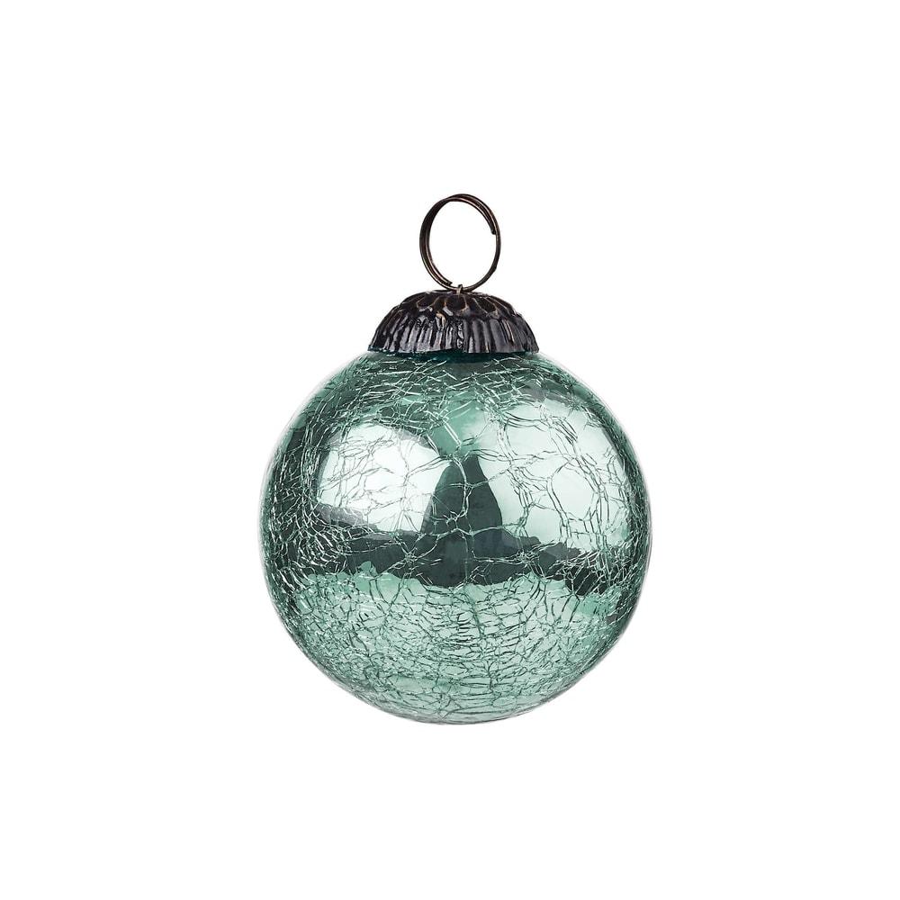 HANG ON Vánoční koule popraskaná 8 cm - mátová