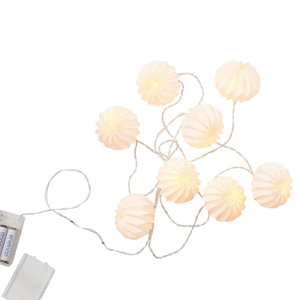 Produktové foto HANAMI Lampióny 8 LED světel - bílá