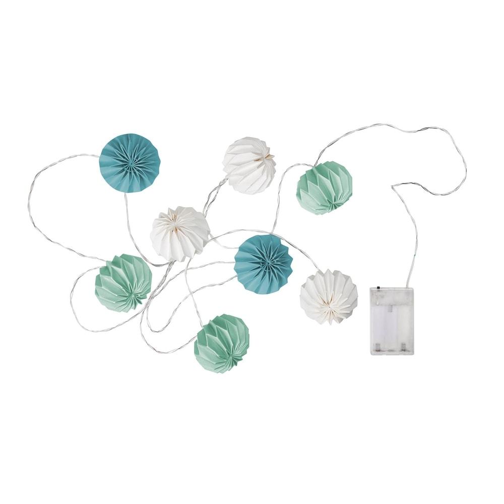 HANAMI LED Světelný řetěz lampióny 8 světel - petrolejová