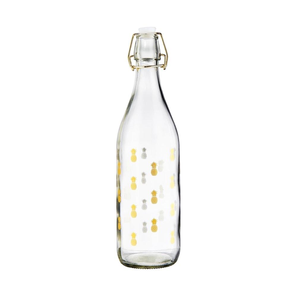 TROPICAL Skleněná láhev ananas 1000 ml