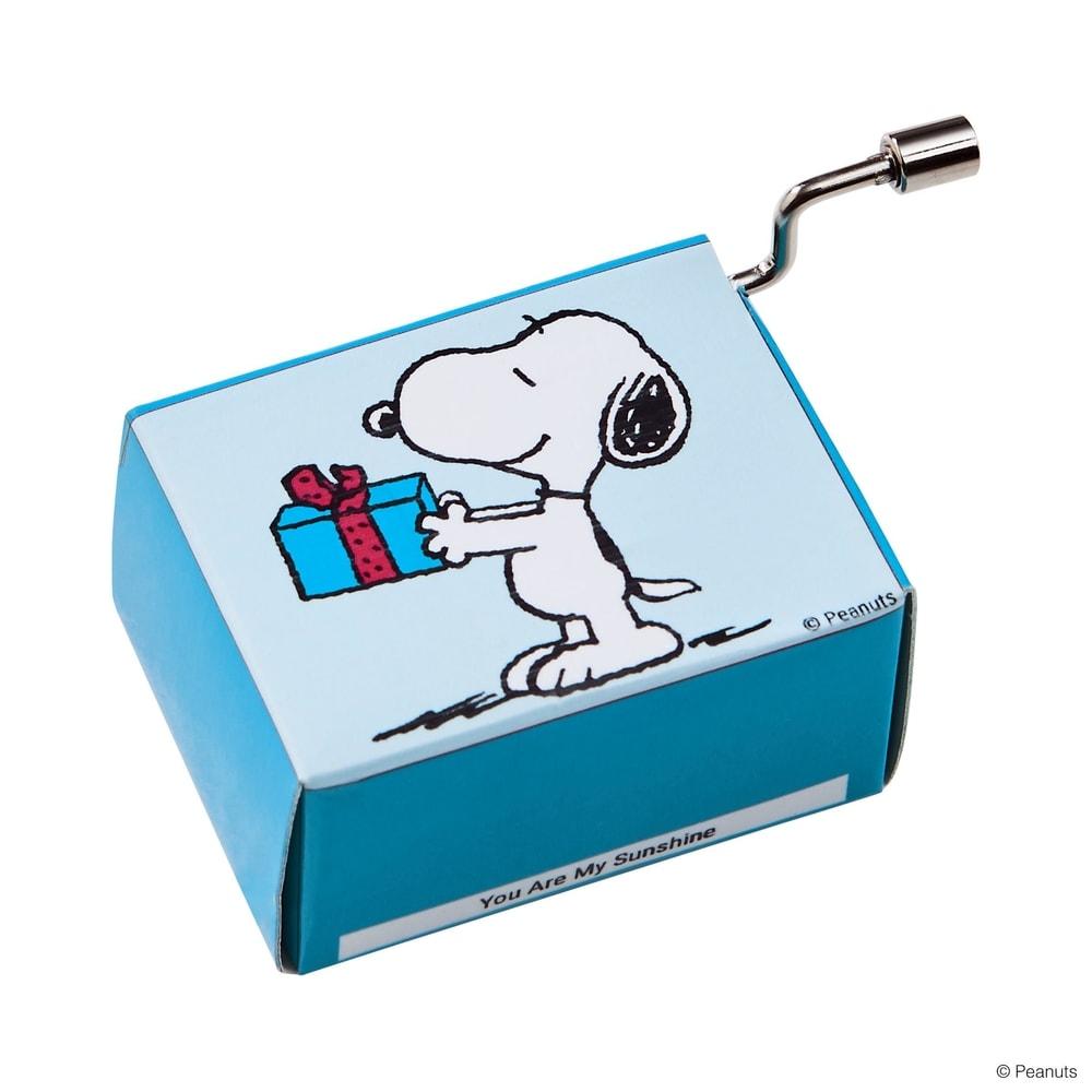 Fotografie SING A SONG Hrací skříňka Snoopy s dárkem